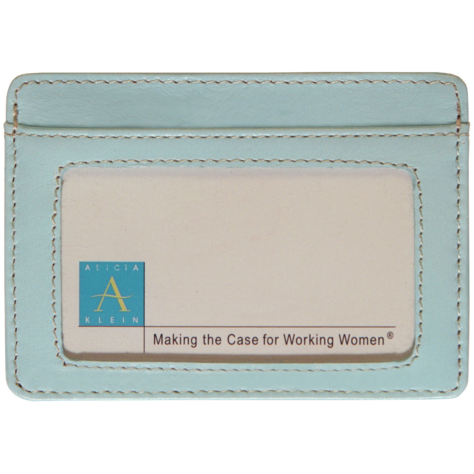 Alicia Klein leather card holder, sky blue