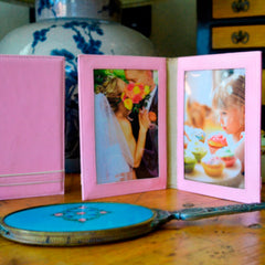 Alicia Klein sale leather photo frames, pink