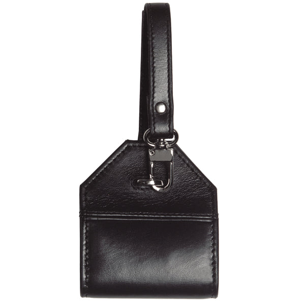Alicia Klein leather luggage tag, black
