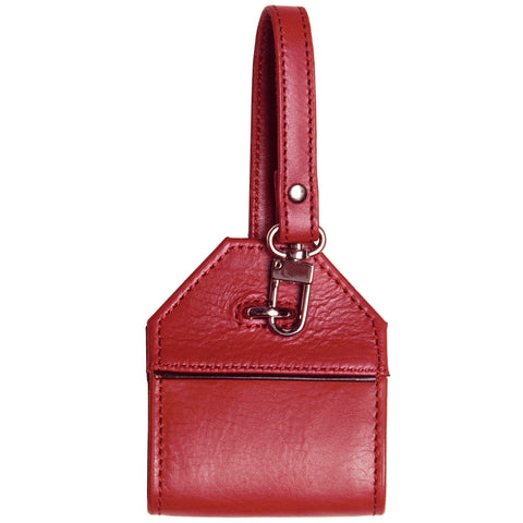 Leather Luggage Tag - Pomegranate