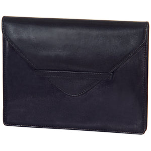 "6.75"" x 5.5"" BLACK Leather Envelope for Receipts, Phone, or Travel Docs"