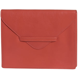 "6.75"" x 5.5"" TANGELO Leather Envelope for Receipts, Phone, or Travel Docs"