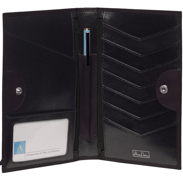 Tour One Passport Wallet - Black Italian Leather