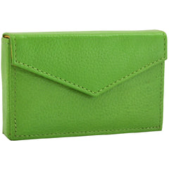 Alicia Klein leather card holder, grass green