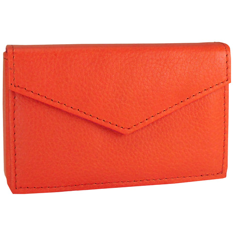 Alicia Klein leather card holder, orange