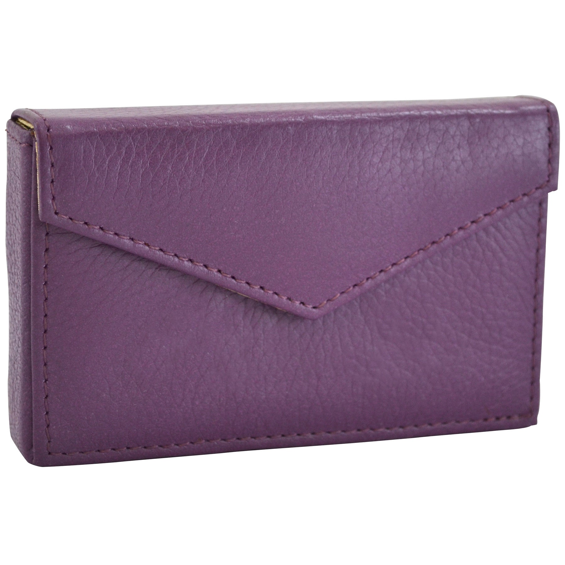 Alicia Klein leather card holder, purple
