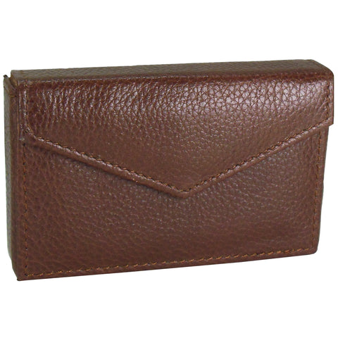 Alicia Klein leather card holder, rich brown