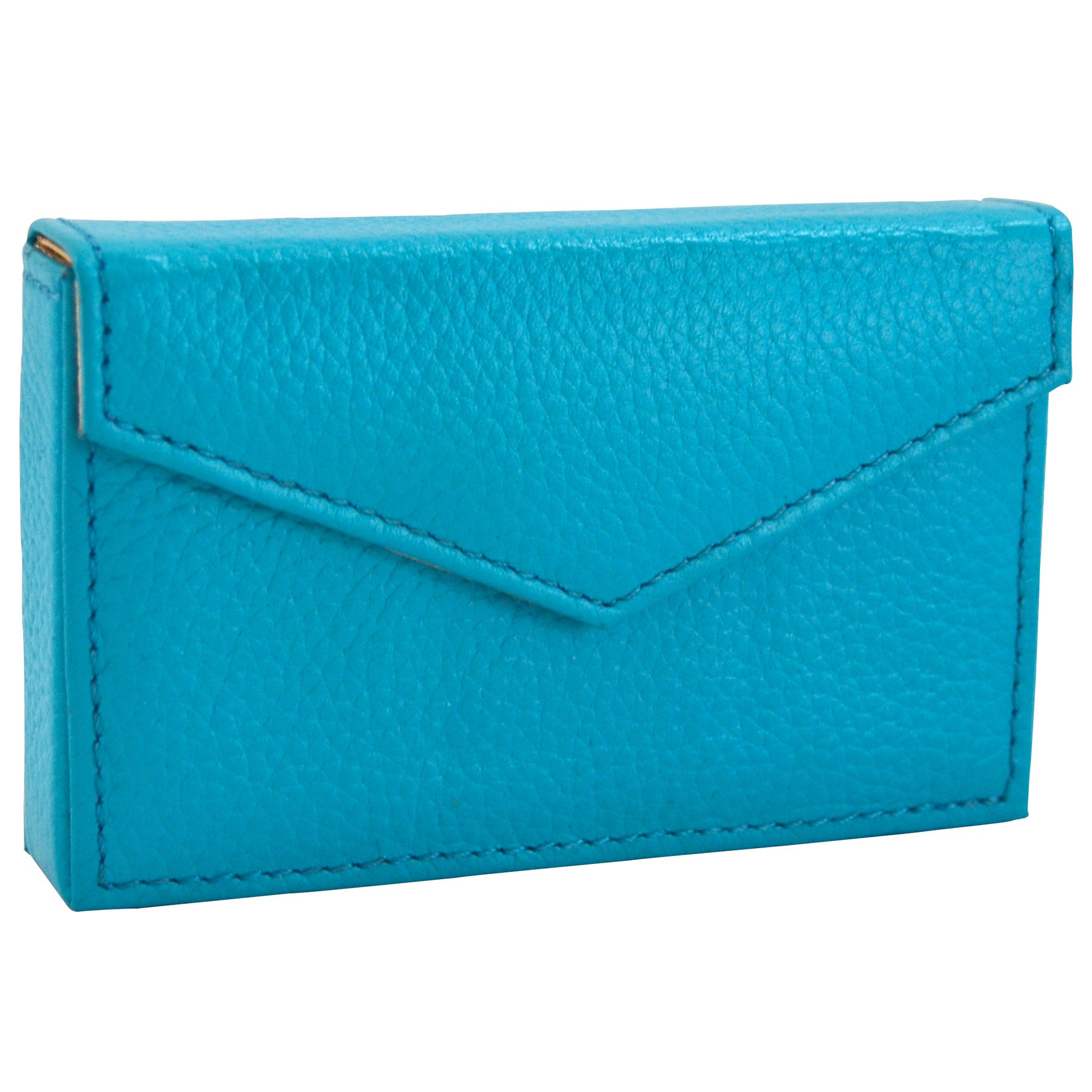 Alicia Klein leather card holder, turquoise blue