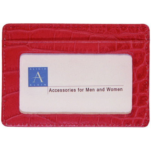 Business Card with Window - Red