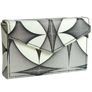 Alicia Klein leather card holder, Fishnets print