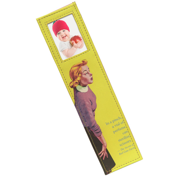 Alicia Klein leather photo bookmark, Nancy Drew