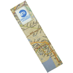 Alicia Klein leather photo bookmark, New York Transit Map