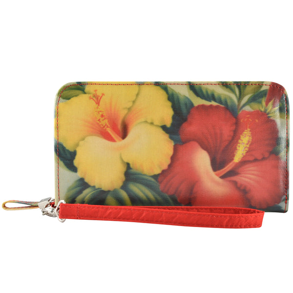 Alicia Klein womens vegan wallet, Hibiscus