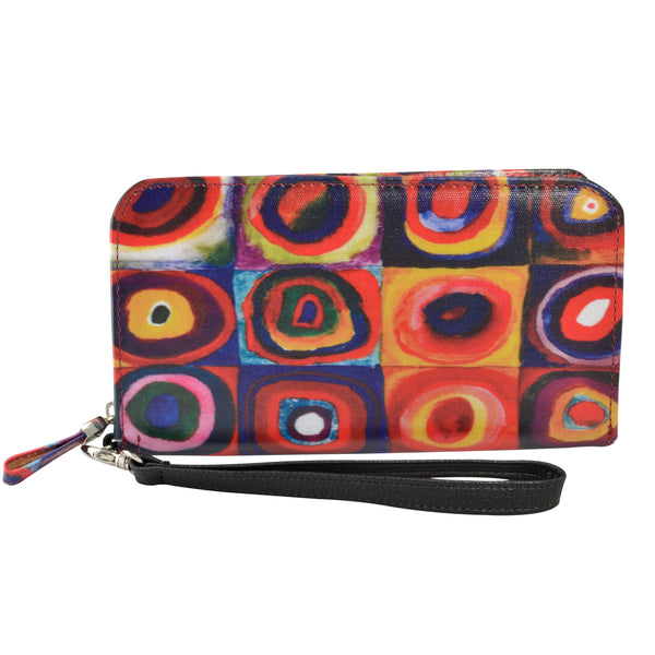 Alicia Klein vegan womens wallet, Kandinsky