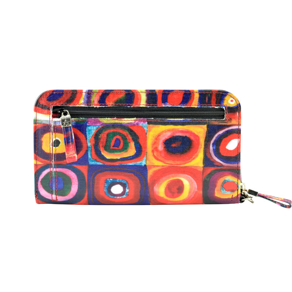 Alicia Klein vegan womens wallet, Kandinsky, back view