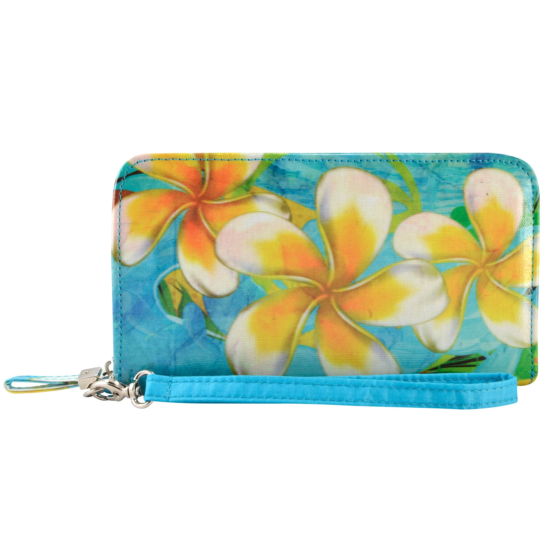 Alicia Klein vegan womens wallet, Plumeria