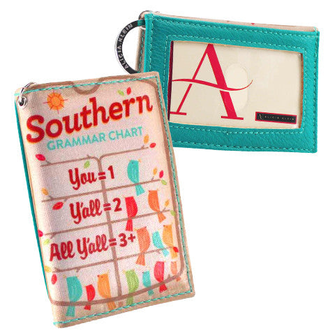 Vegan compact two-fold ID wallet - Southern Gal gift - Grammar
