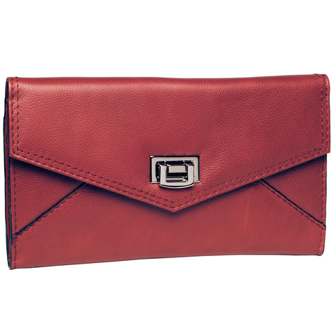 Envelope Clutch - Apple Red
