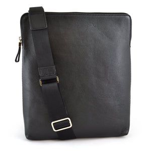 Alicia Klein ePouch leather crossbody tablet bag, black