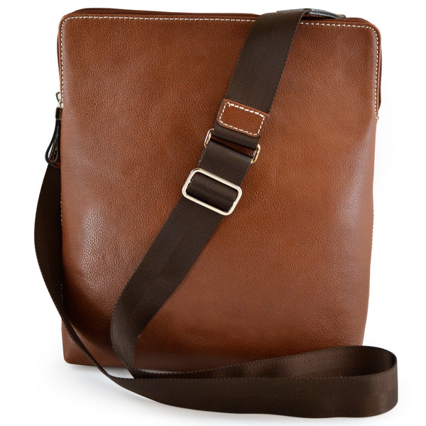Alicia Klein ePouch leather crossbody tablet bag, brown