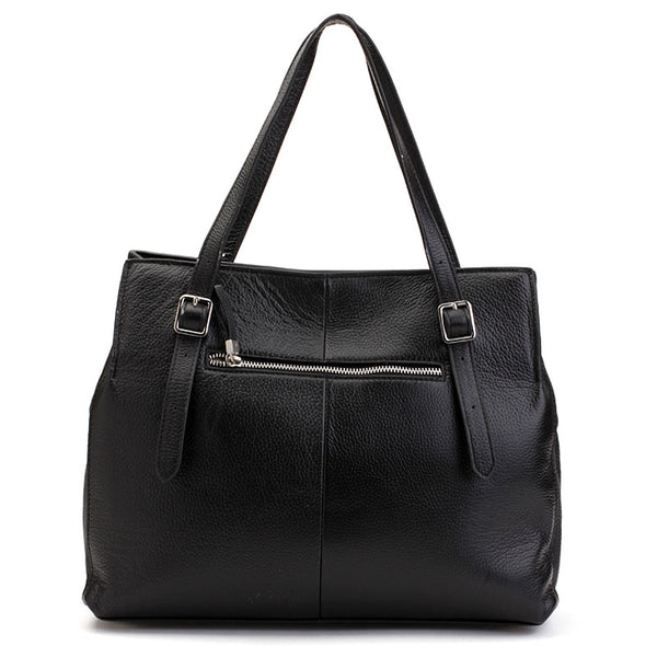 Alicia Klein leather handbags, Hope Bag, black, back view