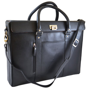 Alicia Klein womens laptop briefcase, Hollywood Tote, black