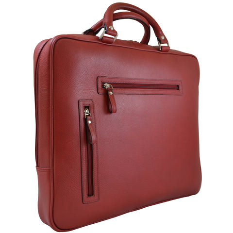 Slim Laptop Brief - Red