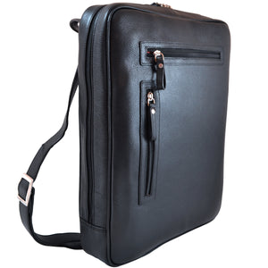 Vertical Slim Laptop Brief - Black