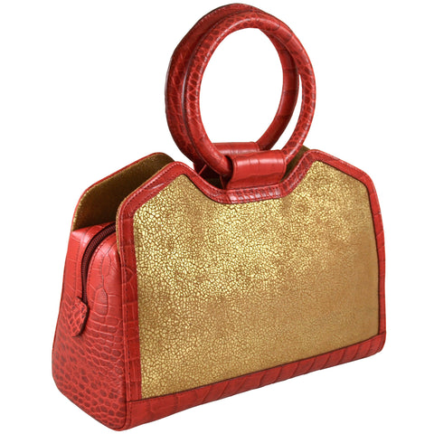 Colette Bag - Red & Gold