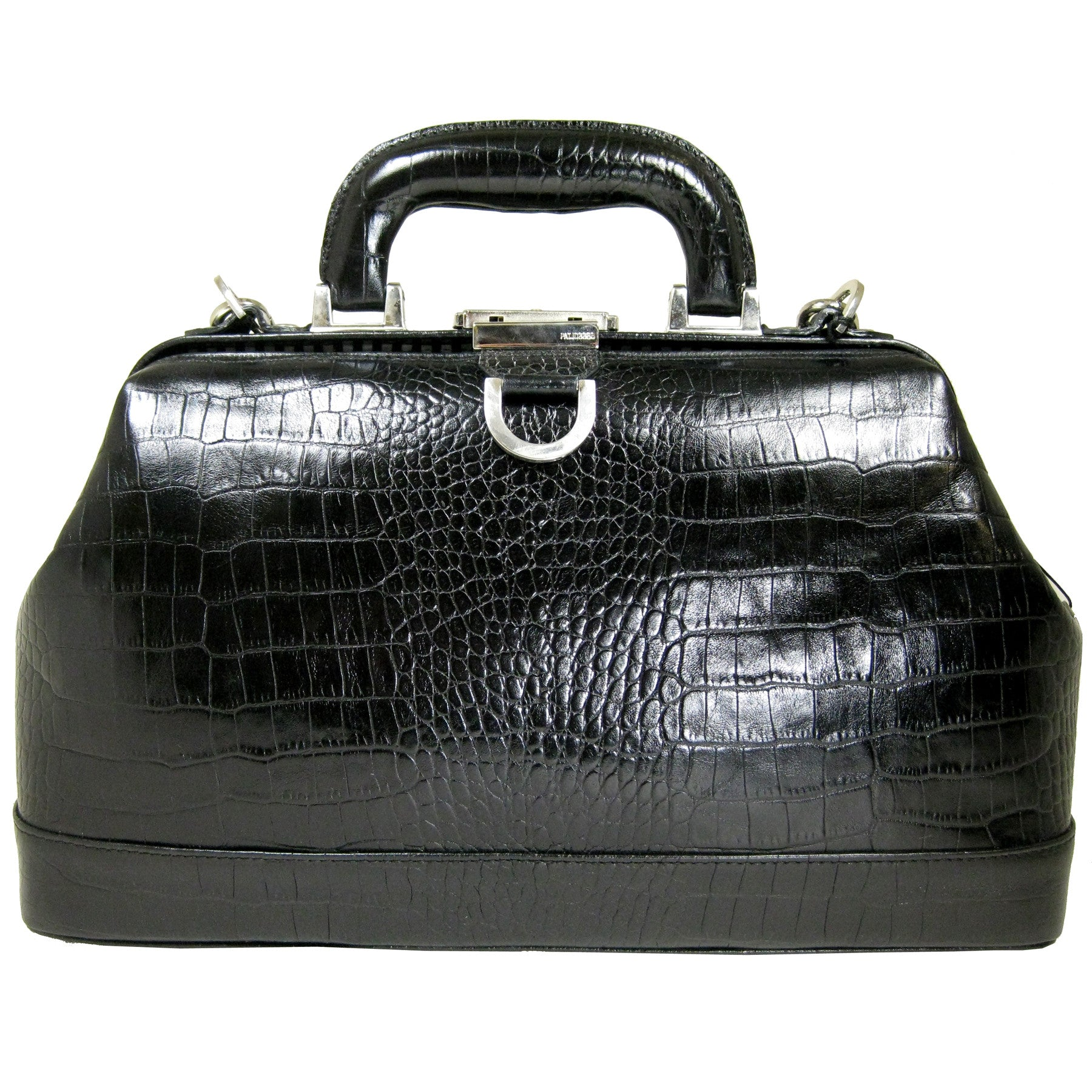 Alicia Klein leather doctor bag, black croco print