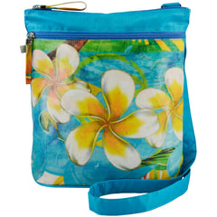Alicia Klein vegan crossbody tablet bag, Maddie, Plumeria