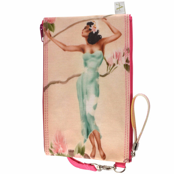 Alicia Klein double zipper bag, Island Girls, back view