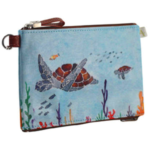 Double Zipper Pouch - Sea Turtle