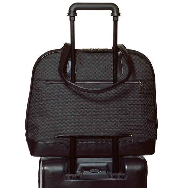 Alicia Klein sale laptop cases, Lucy Briefcase, Shadow Black, back view