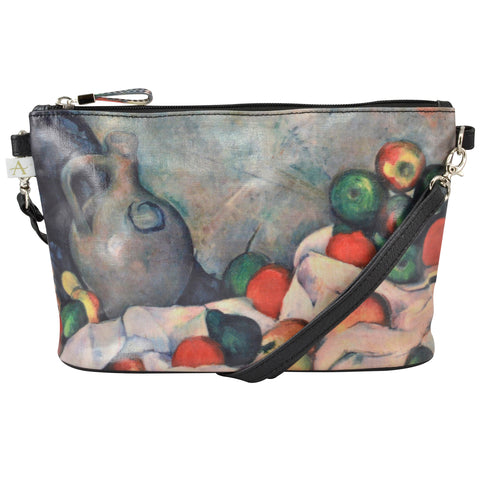 "Cezanne ""Still Life"" Crossbody Bag - 6.5"" x 10"" coated canvas, Vegan"