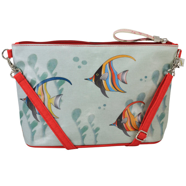 Alicia Klein small crossbody bag, Gifts of the Sea, back view