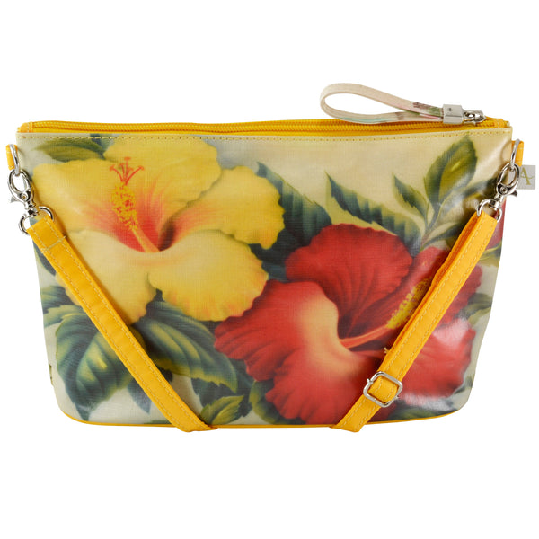 Alicia Klein small crossbody bag, Hibiscus, back view