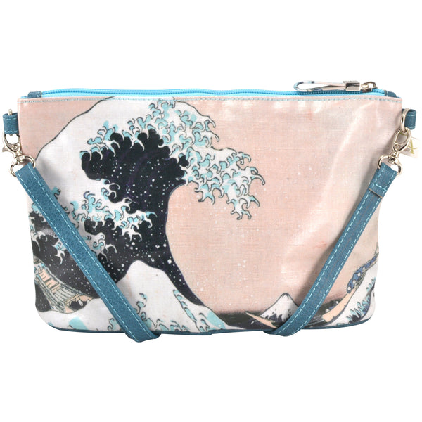 Alicia Klein small crossbody bag, Hokusai Wave, back view