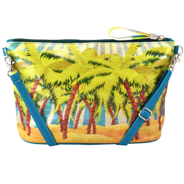 Alicia Klein small crossbody bag, Island Sun, back view