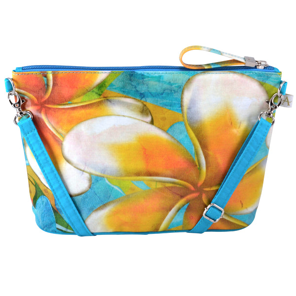 Alicia Klein small crossbody bag, Plumeria, back view