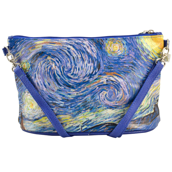 Alicia Klein small crossbody bag, Van Gogh's Starry Night, back view