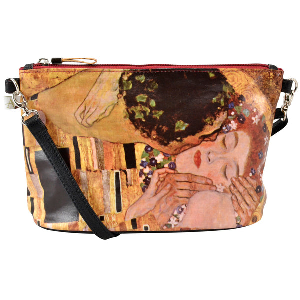 Alicia Klein small crossbody bag, Klimt's The Kiss