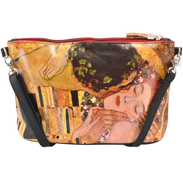Alicia Klein small crossbody bag, Klimt's The Kiss, back view