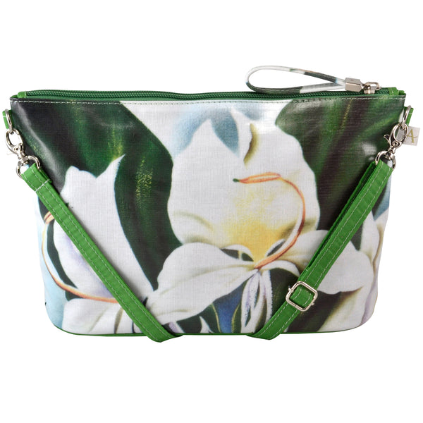 Alicia Klein small crossbody bag, White Ginger, back view