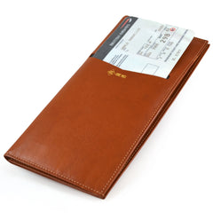 Alicia Klein Concierge leather travel wallet, tan
