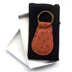 Alicia Klein genuine ostrich key fob