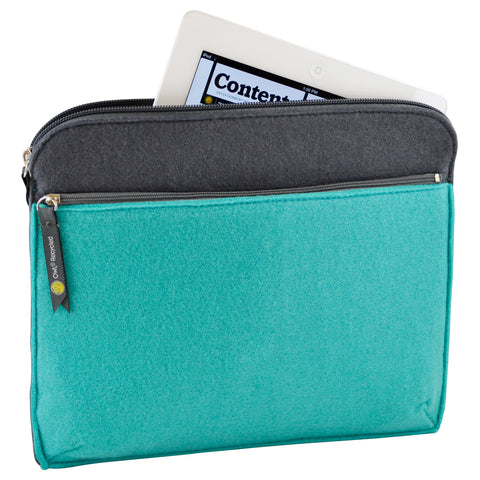 Felt iPad Case - Aqua - 100% Recycled Water Bottles
