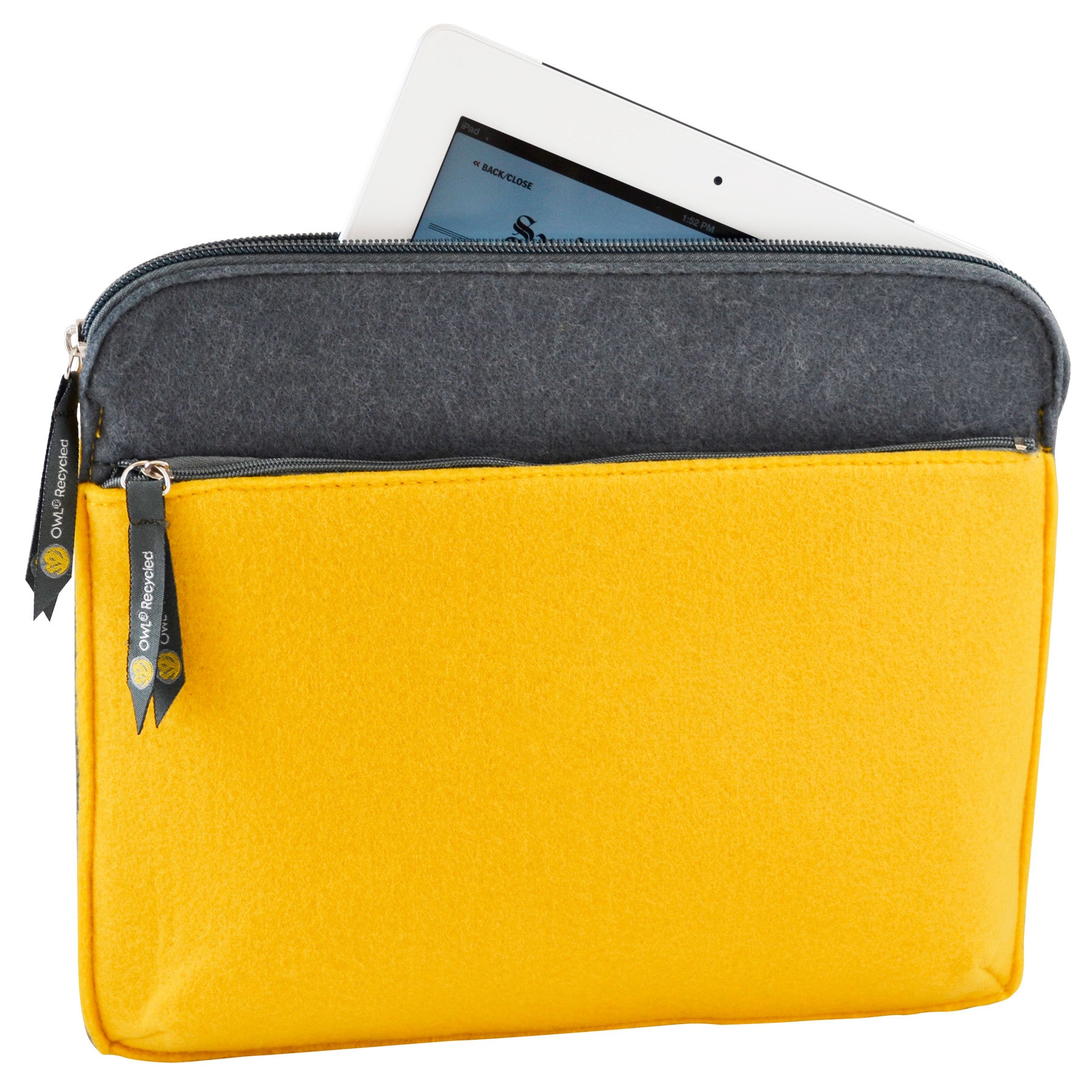 Felt iPad Case - Dandelion - 100% Recycled Water Bottles