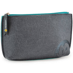 Felt Zip-Top Pouch - Slate - 100% Recycled Water Bottles