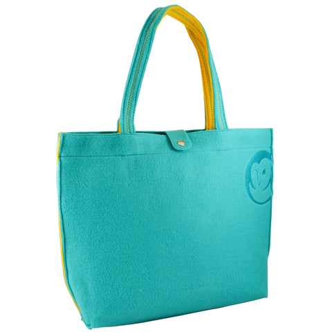 Felt Tote Bag - Aqua - 100% Recycled Water Bottles